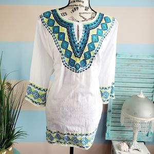 NWT Catherine's Embroidered Dress Top